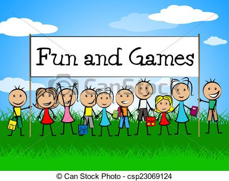 Fun And Games Indicates Gamer Recreational And Recreation » Clipart.