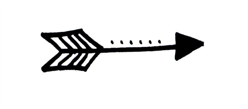 Basic Hand Lettering: Arrow Embellishment.