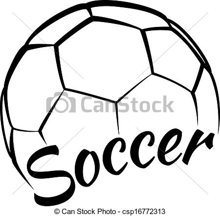 Vector Clip Art of Soccer with Fun Text.