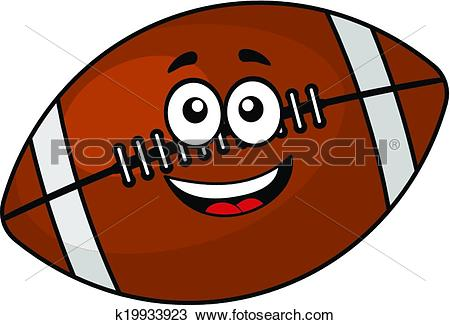Clipart of Fun happy football or rugby ball k19933923.