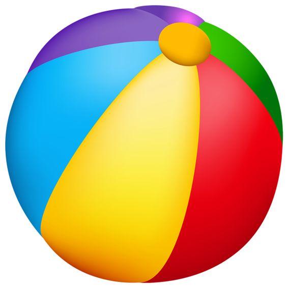 Beach Ball PNG Vector Clipart.