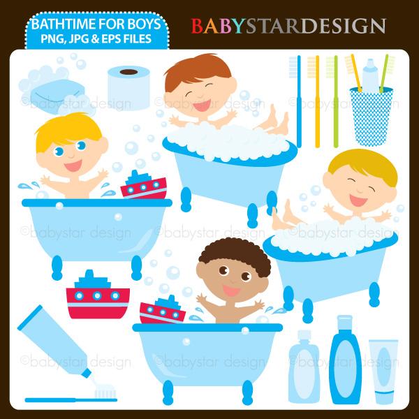 Bath Time Clipart.