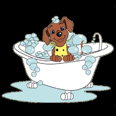 Dog bath clip art.