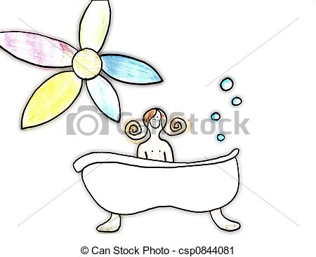 Clipart of Bath Time.