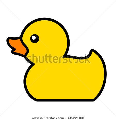 Rubber Duck Toy Fun Bath Icon Stock Vector 416855674.