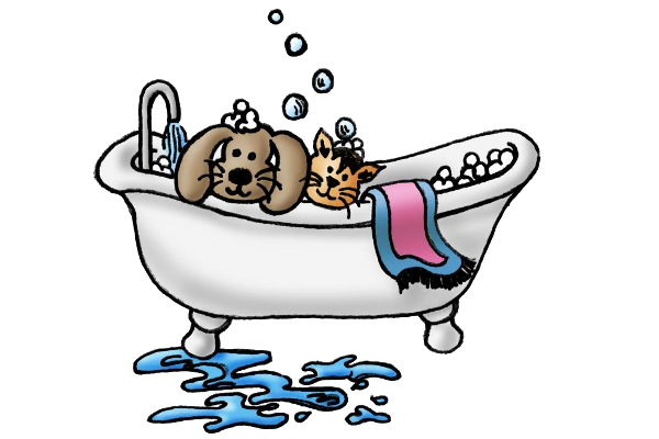 Dog bath clip art.