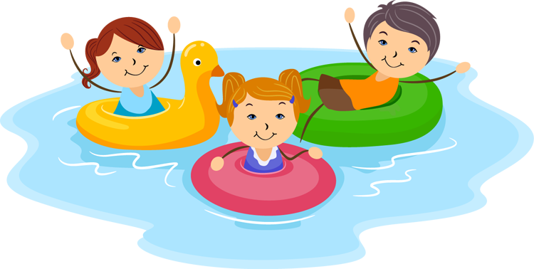 clipart people swimming #3