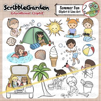 Summer Vacation Fun ClipArt.