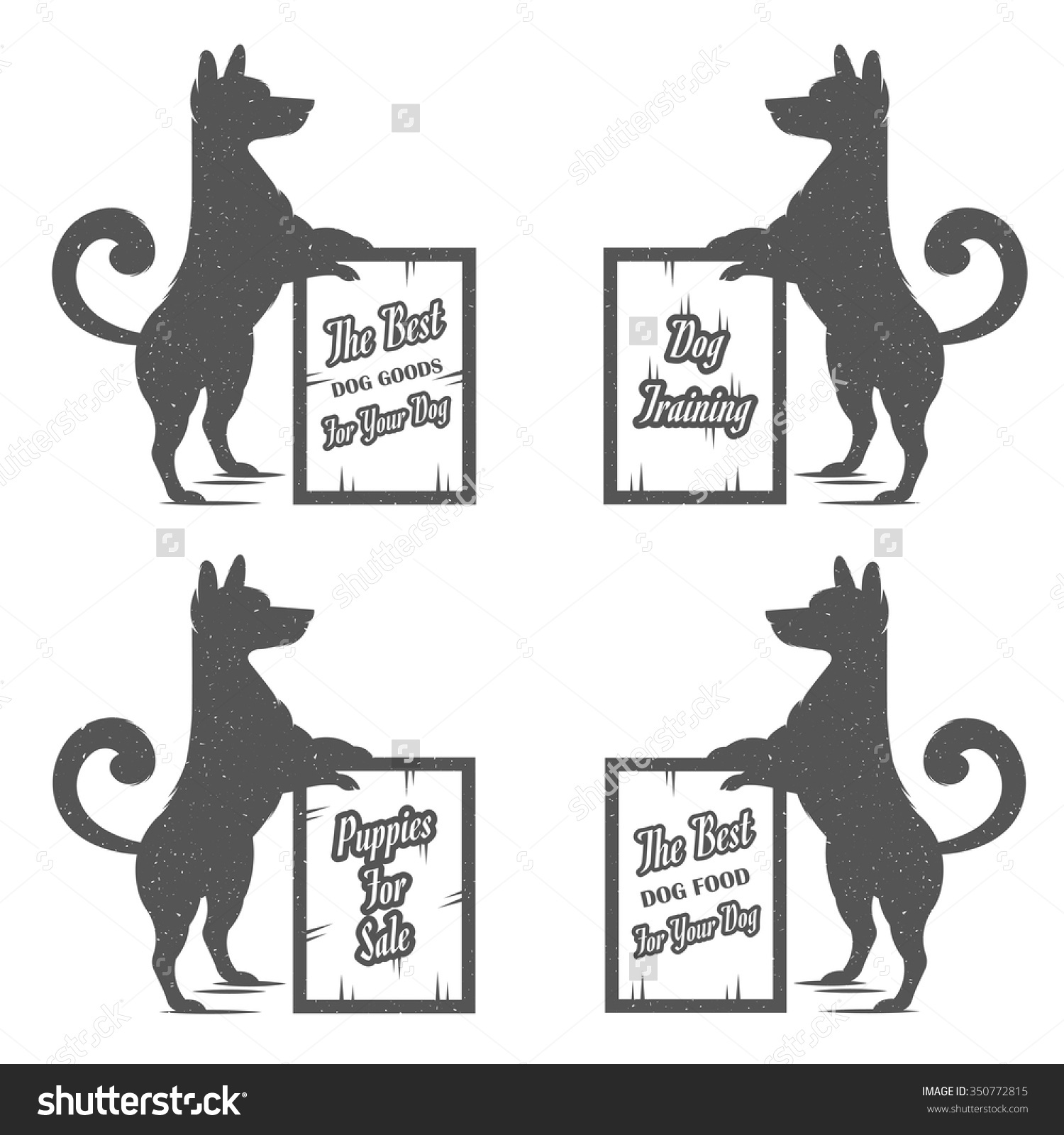 Vintage Illustration Fun Dog With Grunge Effect For Posters And T.