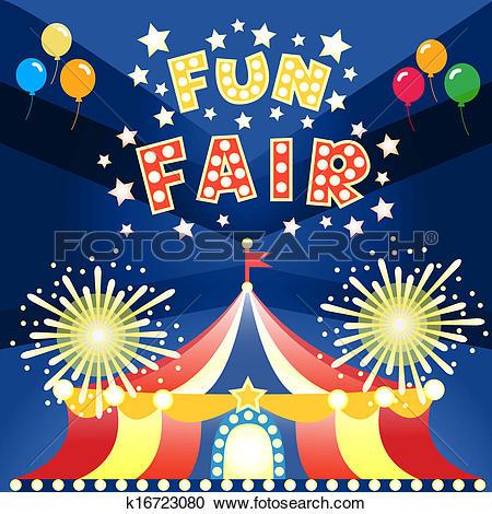Clipart of fun fair poster k16723080.