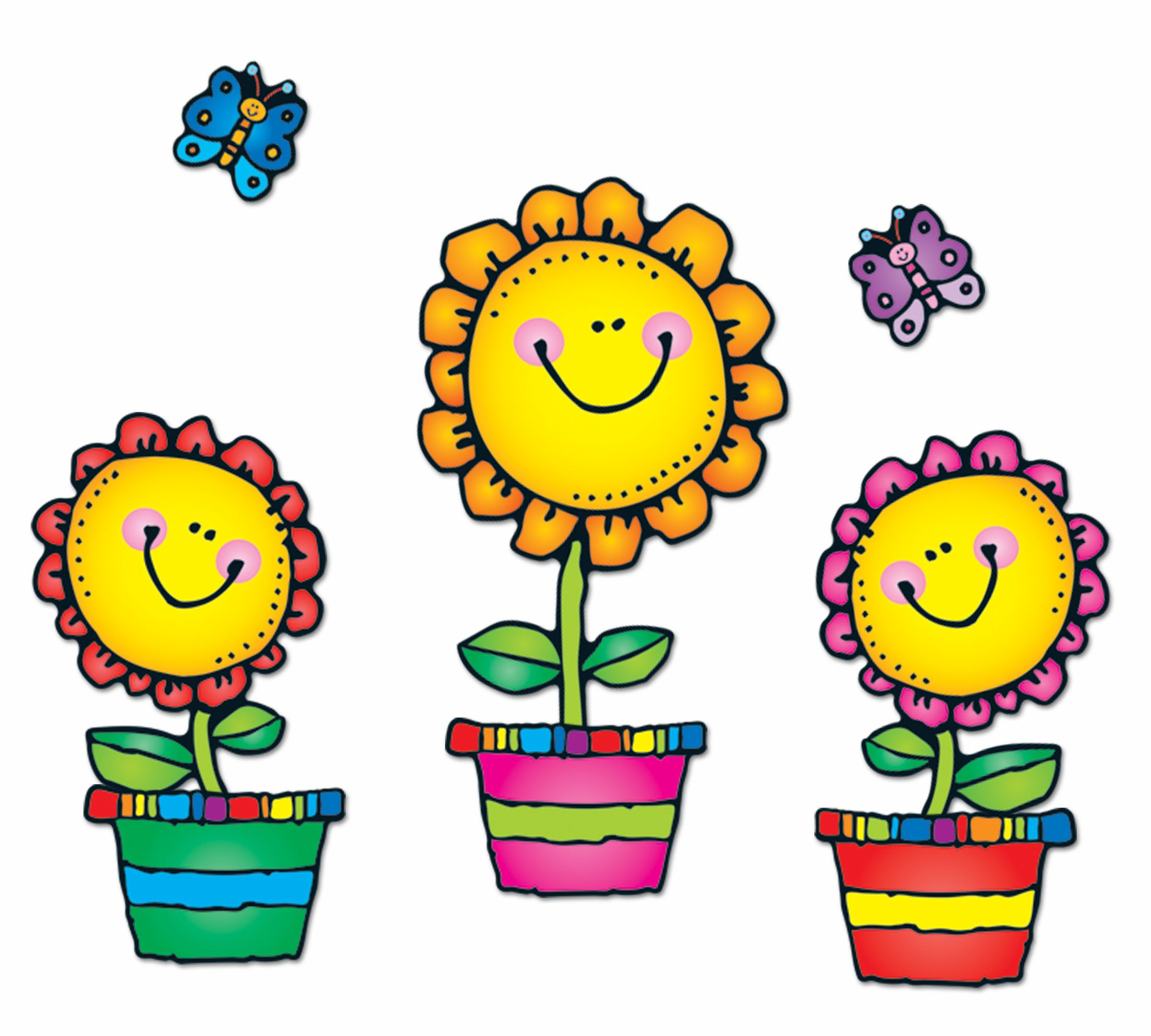 The Blooming Flowers Bulletin Board Set is a fun, cheerful.