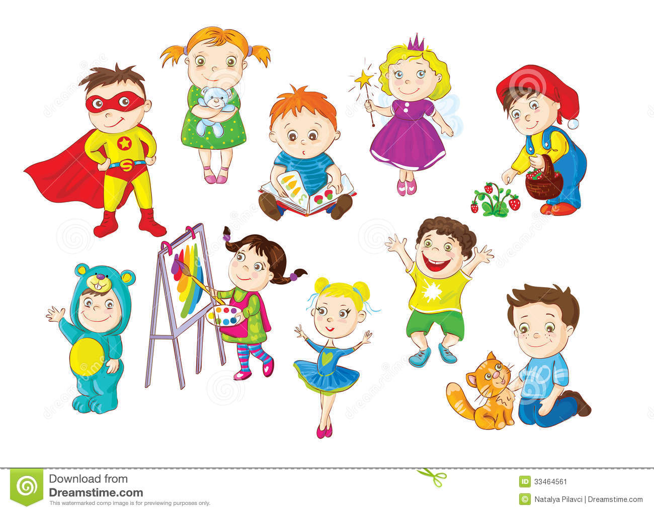 Toddlers Activities Stock Image.