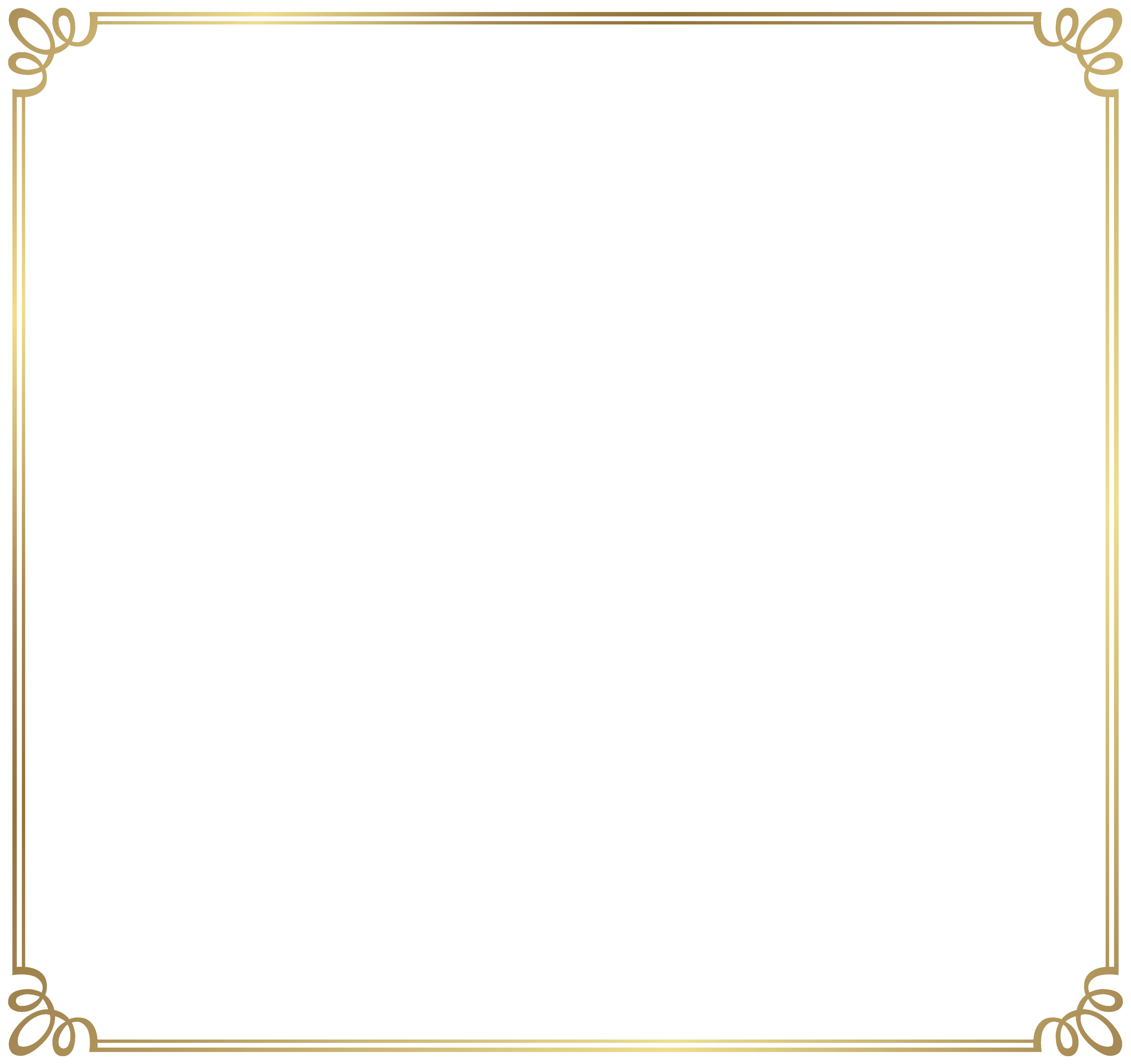 Decorative Frame Border PNG Clipart Image.