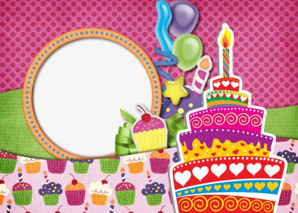 Fun Birthday Frames, Birthday Clipart, Fun Frames, Birthday Frame.