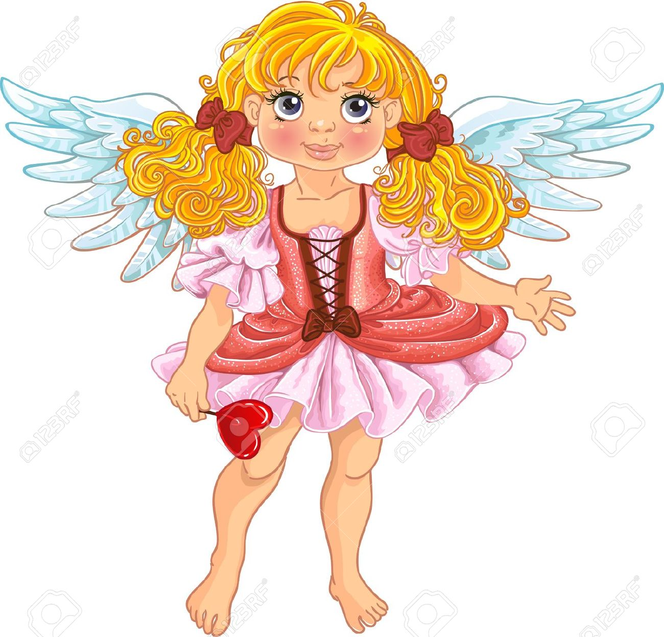 Fun Girl Angel Clipart.