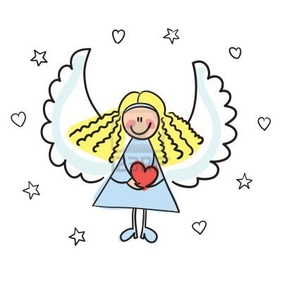 fun girl angel clipart #7