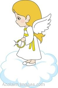 fun girl angel clipart #16
