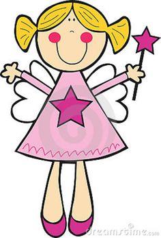 Fun Girl Angel Clipart.