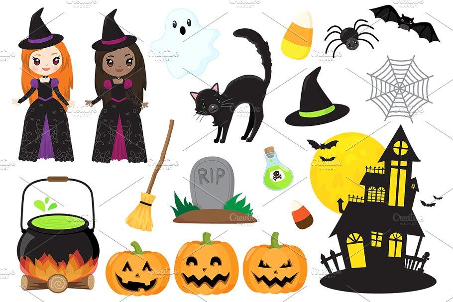 Fun Halloween Clipart ~ Illustrations ~ Creative Market.