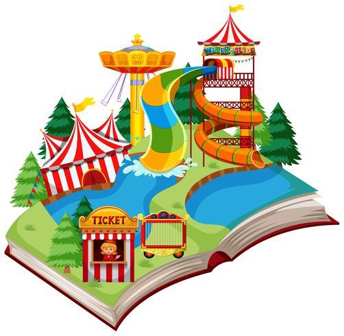 Open book fun park theme.