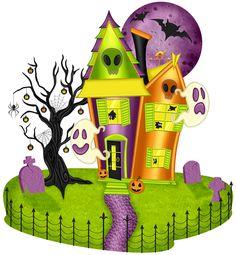 Halloween fun house clipart.
