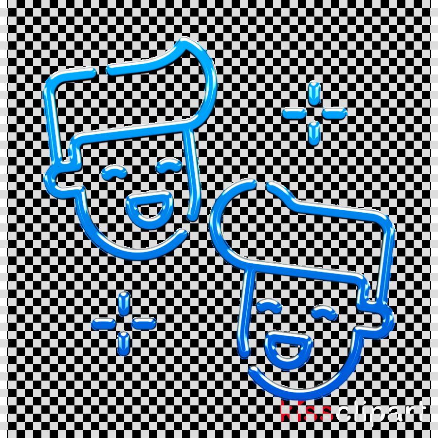 Laugh icon Friendship icon Fun icon clipart.