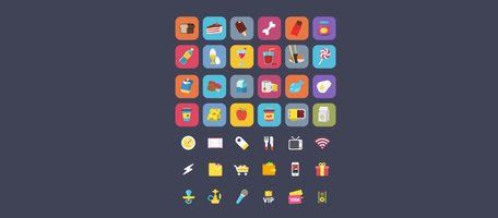 40 Fun Food Ficons Icons Set Clipart Picture Free Download.