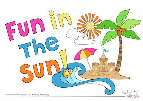 Fun in the sun clipart 2 » Clipart Station.