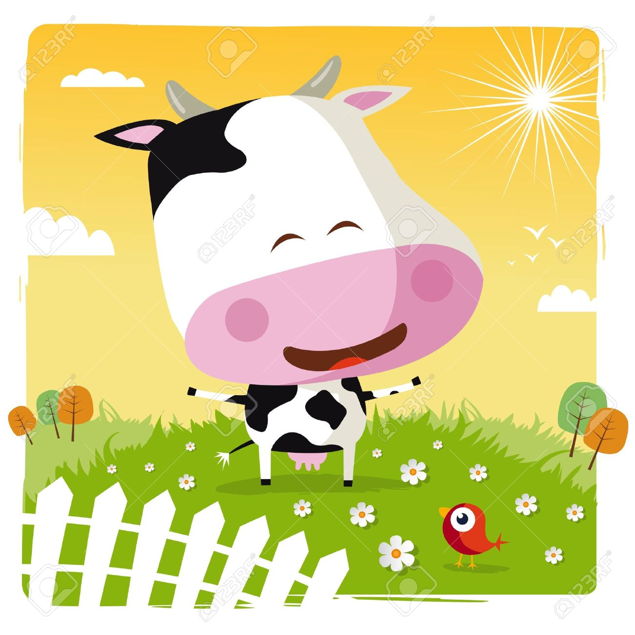 Funny Cow Royalty Free Cliparts, Vectors, And Stock Illustration.