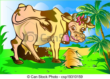 Stock Illustrations of cows cartoon.
