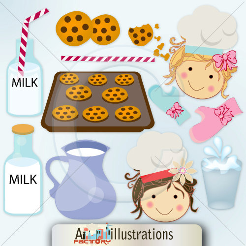 Baking Funny Clipart.
