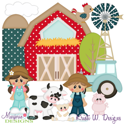 Fun On The Farm SVG Cutting Files Includes Clipart.