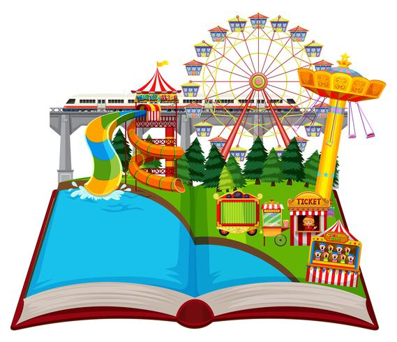 Open book fun park theme.