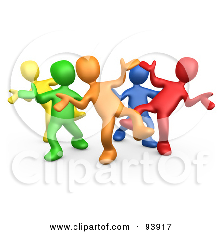 Fun Group Of People Clipart.