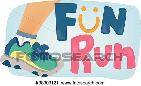 Fun Run for Kids Poster Clipart.