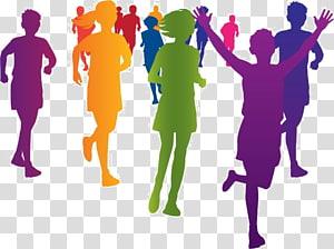 Marathon illustration, The Color Run Running Fun run Racing , Race.