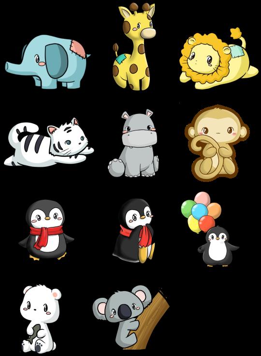 Zoo Animal Stickers.