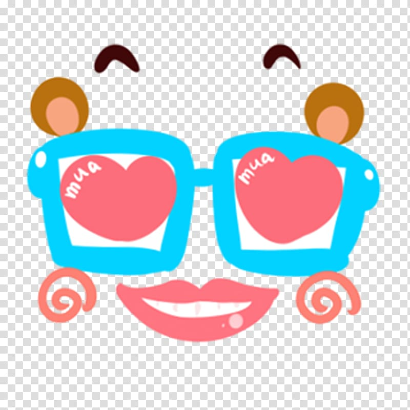 Sticker , Funny Glasses transparent background PNG clipart.
