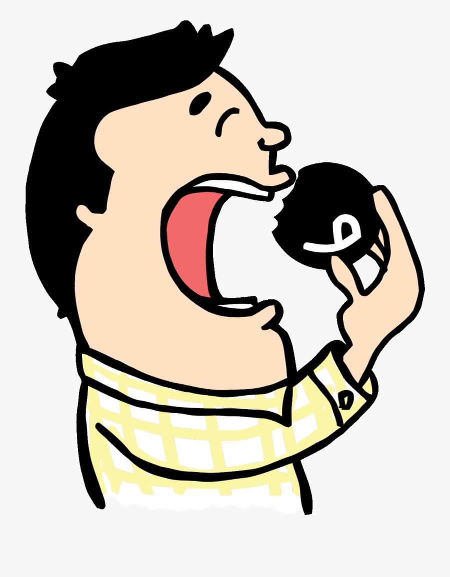 Fun Eating Sticker By Aquarela.