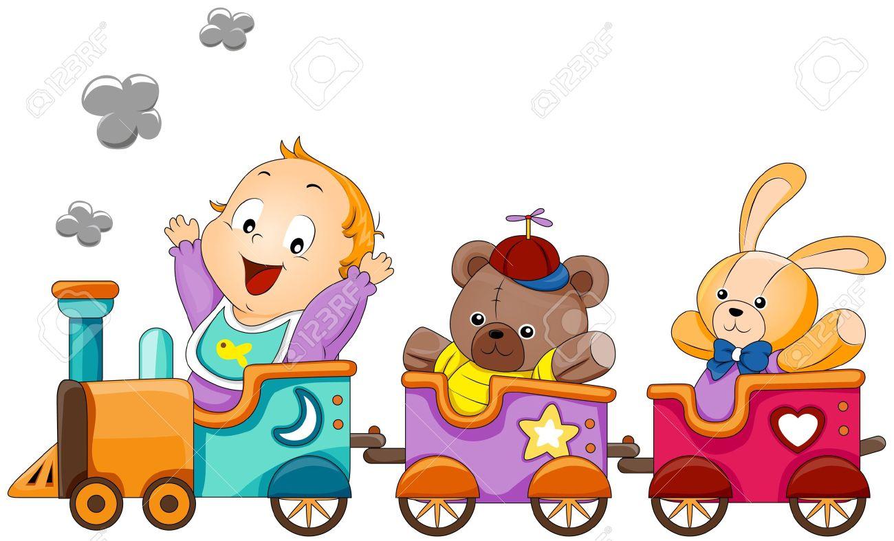 Baby train clipart.