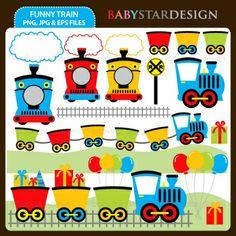 Zoo Train Clip Art Set, by Cheryl Seslar.