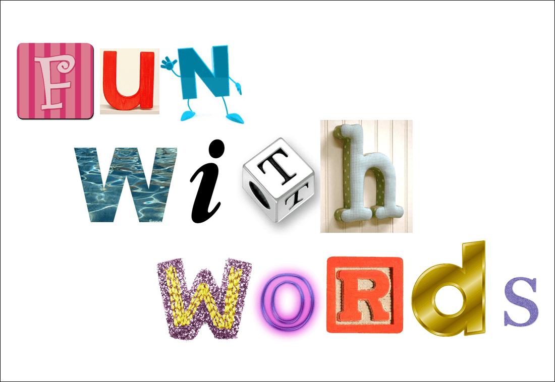 Fun Word Cliparts.