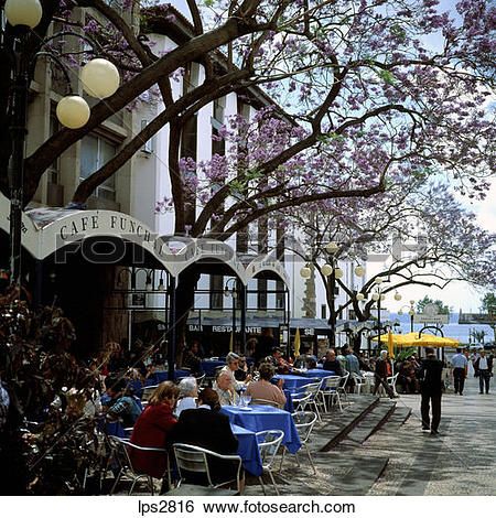 Stock Images of 11 Sgm Square Portugal Madeira Island Funchal.