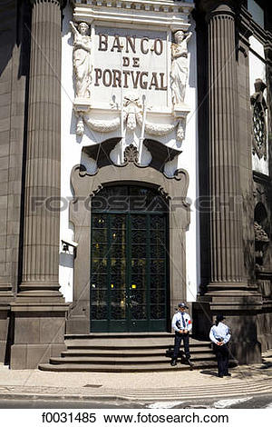 Stock Image of Portugal, Madeira, Funchal, bank f0031485.