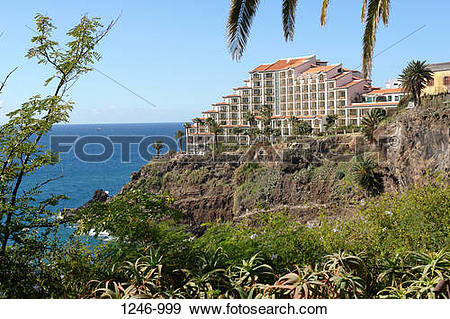 Stock Photograph of Hotel on a cliff, Cliff Bay Hotel, Funchal.