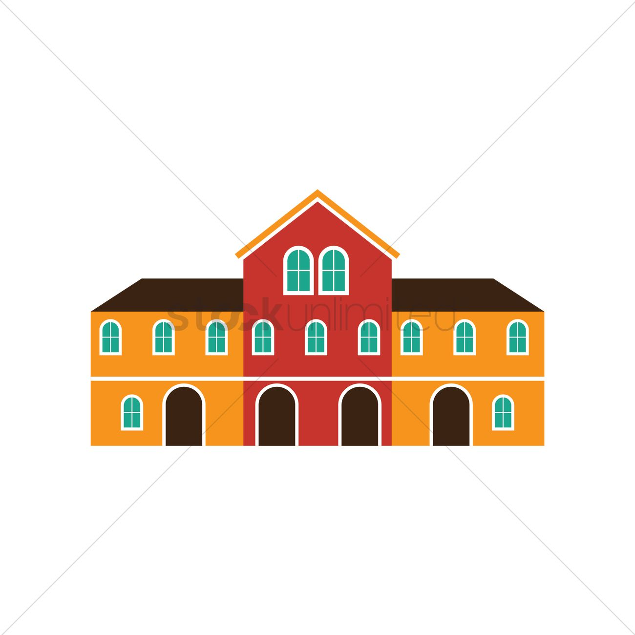 Funchal town hall building Vector Image.