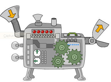 Function machine clipart.
