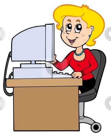 Secretary Job Clipart.