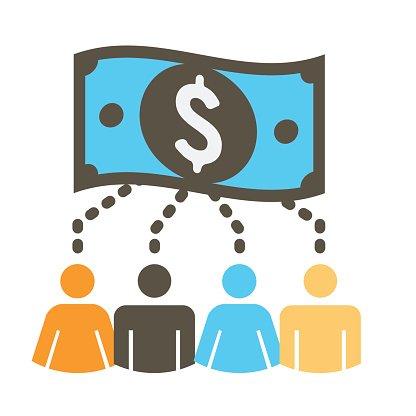 People Funding Different Online Ideas premium clipart.