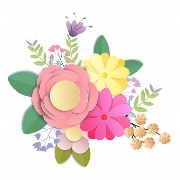 Flores de papel ofício, bouquet floral festivo, natureza.